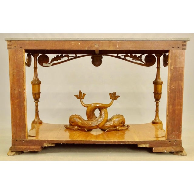 Wood 19th Century Biedermeier Fruitwood Console For Sale - Image 7 of 8