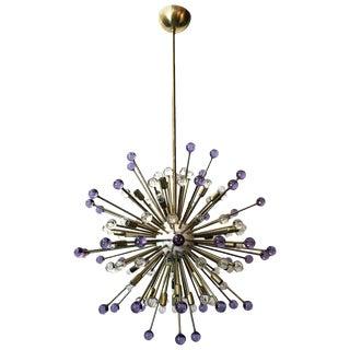Purple and Clear Burst Sputnik by Fabio Ltd For Sale