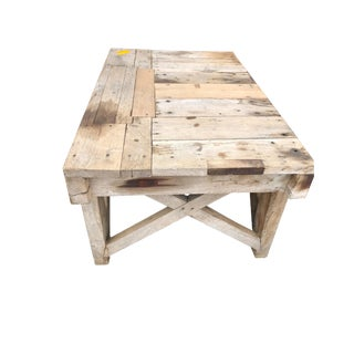 19th Century French Oak Patchwork Table For Sale