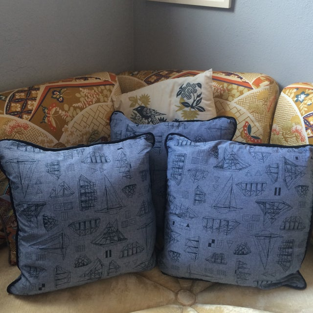 Set of Three Nautical Pillows - Image 4 of 8