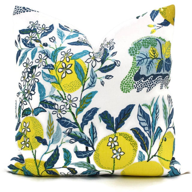 Add a pop o' color to your with this colorful pillow cover in the pool colorway. Citrus garden pattern designed by josef...