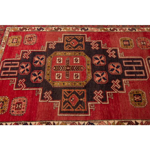 """Traditional Apadana - Vintage North West Persian Rug, 4'7"""" X 11'3"""" For Sale - Image 3 of 9"""