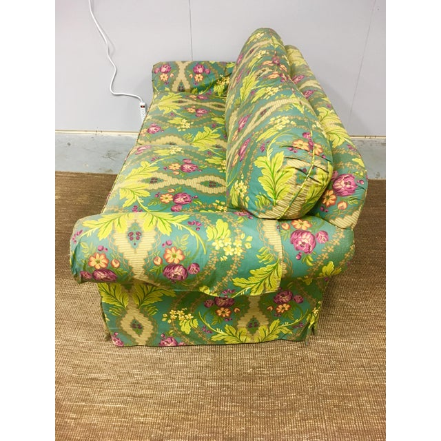 Boho Chic 21st Century Clarence House Floral Print Down Sofa For Sale - Image 3 of 6
