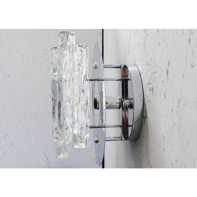 Set of Three Geometric Sconces / Flush Mounts by Salviati For Sale In Palm Springs - Image 6 of 9