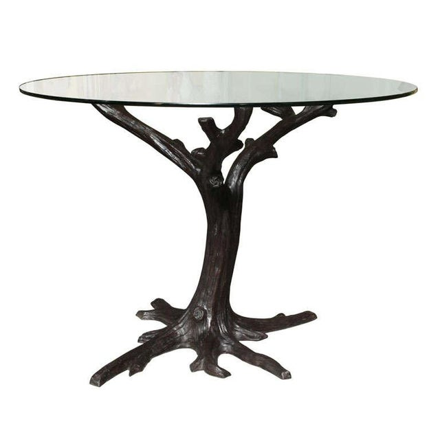 Sophisticated Contemporary Bronze TreeTrunk Dining Table Base Or - Tree trunk dining table base