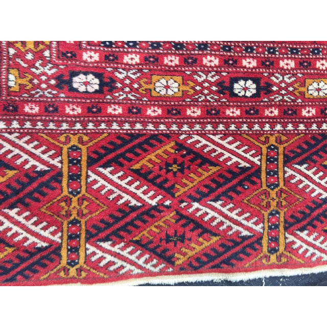 Boho Chic Antique Tribal Turkoman Bohkara Hand Knotted Wool Area Rug - 9′5″ × 12′8″ For Sale - Image 3 of 10