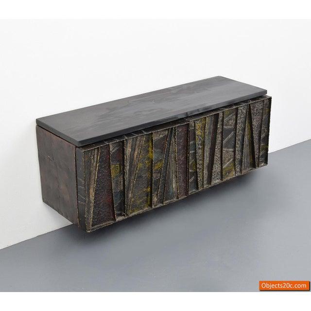 Enamel Vintage Mid-Century Paul Evans Deep Relief Cabinet For Sale - Image 7 of 11