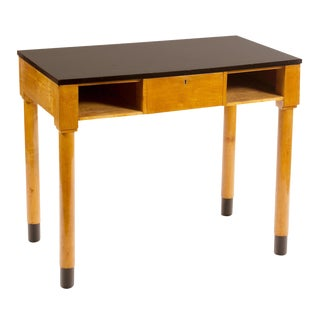 Swedish Ebonized & Birch Desk For Sale