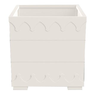 Ocean Drive Outdoor Planter Small, White For Sale