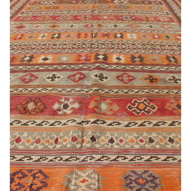 Textile Keivan Woven Arts, S12-0601, 1930's Antique Moroccan Kilim Rug - 5′ × 9′10″ For Sale - Image 7 of 11