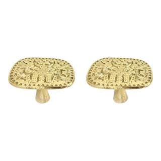 Addison Weeks Michelle Nussbaumer Maya Pull, Brass - a Pair For Sale