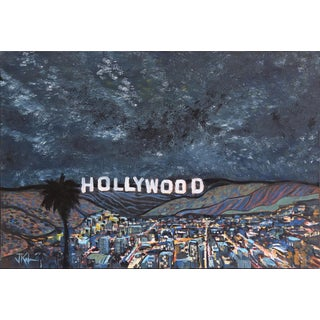"""Jim Keifer """"Starry Night Over Hollywood"""" Original Painting For Sale"""