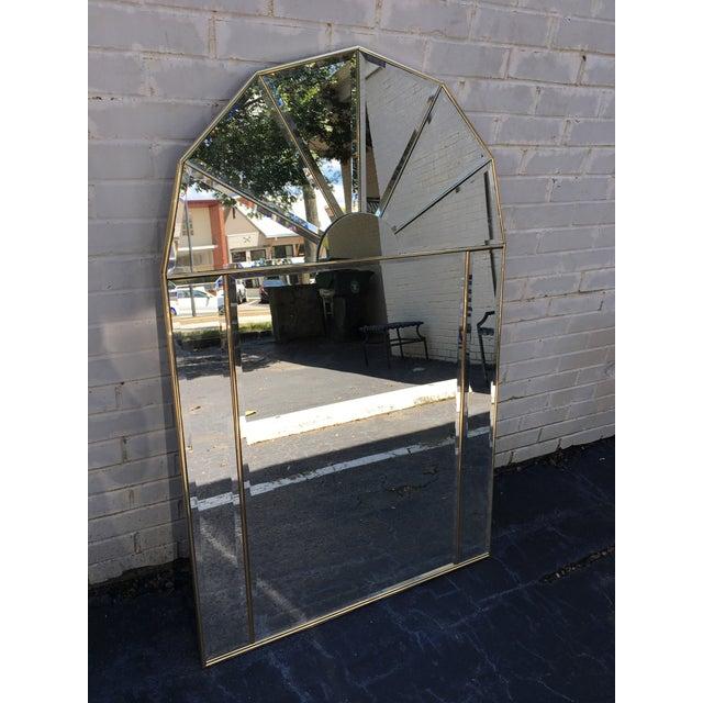 Brass Sculptural Hollywood Regency Mirror - Image 7 of 7