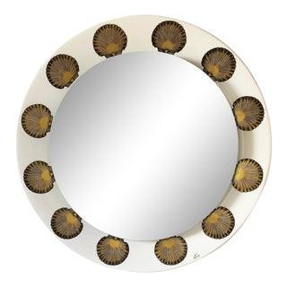 Piero Fornasetti for Fornasetti Milano Back-Lit Mirror W/ Shell Decorations For Sale