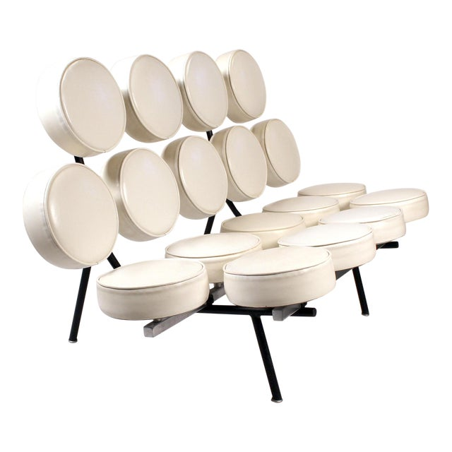 Early Marshmallow Sofa by George Nelson for Herman Miller For Sale