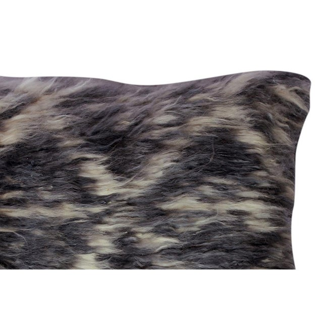 "Debrah Gray/Ivory Handmade Moroccan Wool Throw Pillow(15""x15"") For Sale - Image 4 of 6"