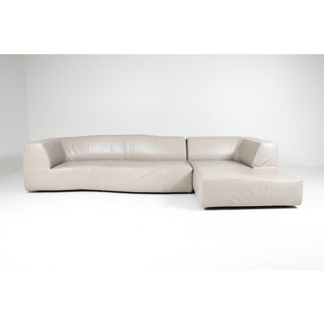 "Contemporary leather sofa by Patricia Uquiola for bebitalia, 2010. Patricia Urquiola came up with the name ""Bend"", also..."