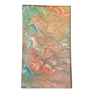 Jill Seale Hand-Marbled Coral Sea Glass Tray