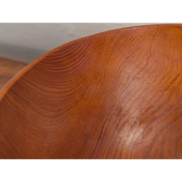 Large American Walnut Serving Bowl For Sale - Image 4 of 8