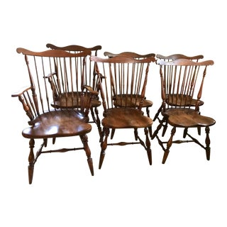 Harden Mid-Century Cherry Dining Room Chairs - Set of 6