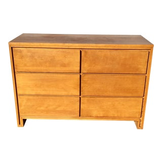 1970's Mid Century Modern Leslie Diamond Maple Dresser by Conant Ball For Sale