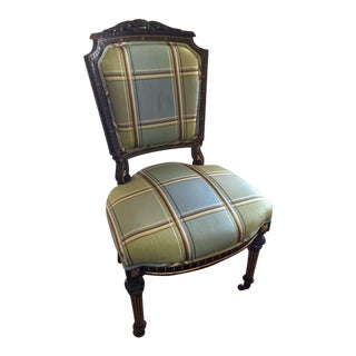 Antique Empire Style Accent Desk Chair For Sale