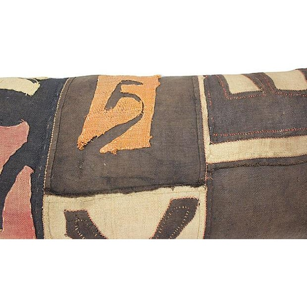 Antique African Kuba Cloth Pillow - Image 2 of 4