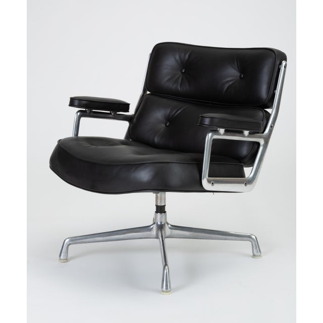 Black Leather Time Life Lobby Chair by Ray and Charles Eames for Herman Miller For Sale - Image 13 of 13