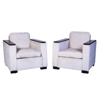 Jacques Adnet Club / Armchairs - a Pair For Sale
