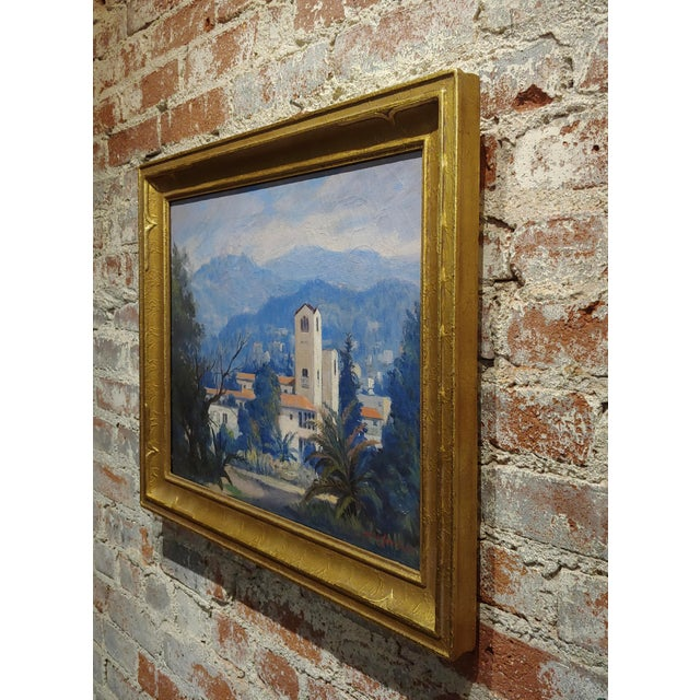 Canvas David Gershuni - Griffith Park, Los Angeles 1930s-Oil Painting For Sale - Image 7 of 9