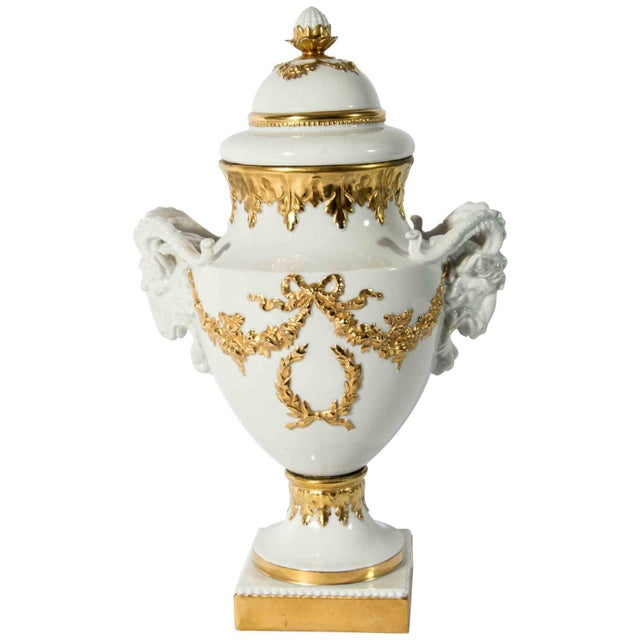 Late 19th Century Late 19th Century Antique English Porcelain and Gold Vase For Sale - Image 5 of 5