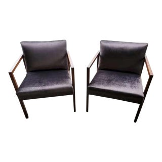 Mid Century Modern George Nelson for Herman Miller Chairs - Pair For Sale