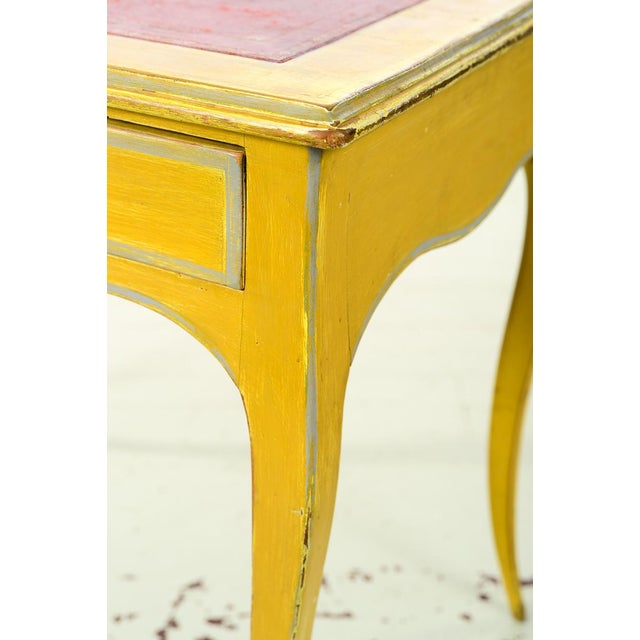 Late 19th Century 19th Century Venetian Beautiful Painted Petite Ladies Desk -Leather Top For Sale - Image 5 of 10