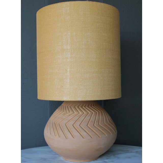 Native American Art Pottery Lamp - Image 2 of 11