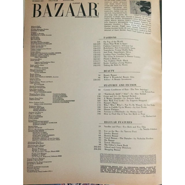 Mid-Century Modern Mid 20th Century Harper's Bazaar Magazine, Front Cover by Guy Bourdin For Sale - Image 3 of 7