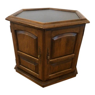 Mid-Century Modern Ethan Allen Slate Top Hexagonal Side Table -Outstanding! For Sale