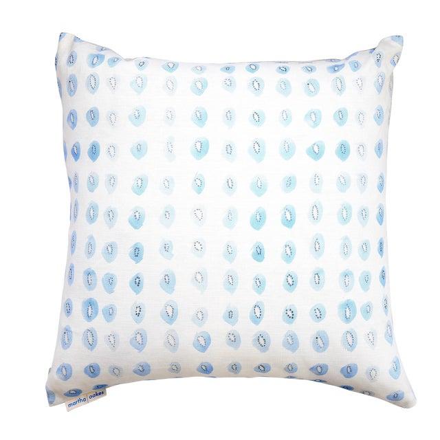 "Blue Kiwis Linen Pillow - 16"" X 20"" - Image 1 of 5"