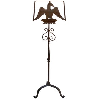 Early 1900s Gilt-Iron Eagle Book Stand For Sale