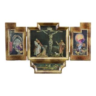 Vintage 1940s Isenheim Altarpiece Crucifixion For Sale