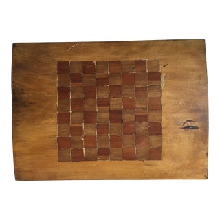 Handmade Inlaid Rustic Wide Plank Wooden Game Board