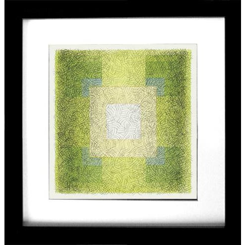 """Scribble Series """"Square 7"""" Watercolor Painting For Sale - Image 4 of 5"""
