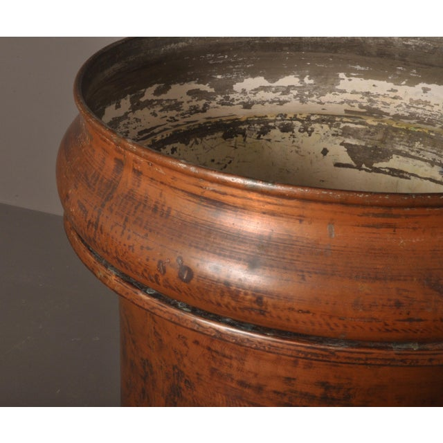 French Large Copper Pot, Switzerland, 1940s For Sale - Image 3 of 10