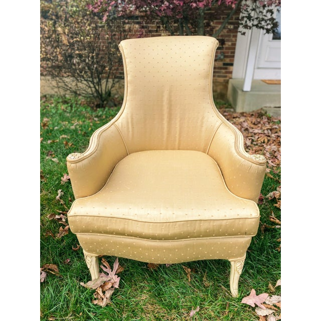 A pair of unique victorian inspired arm chairs. These chairs have a scroll back and arms and are ready for your...