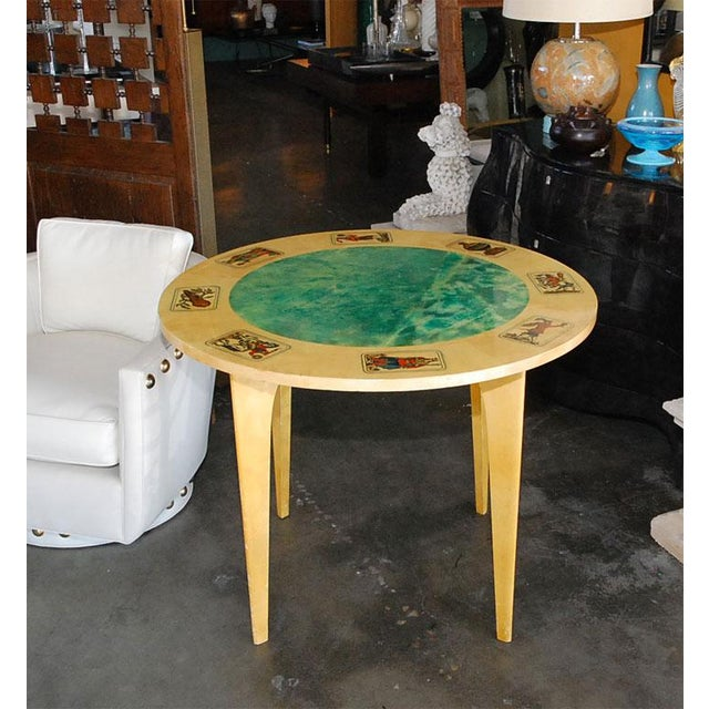Mid-Century Modern 1950s Aldo Tura Game Table For Sale - Image 3 of 8