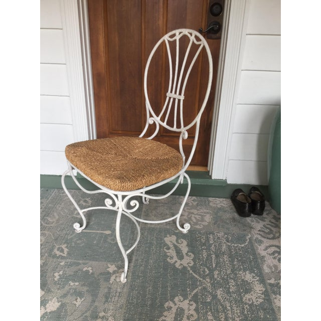 French 1950s French Country Wrought Iron Dining Set - 5 Pieces For Sale - Image 3 of 10