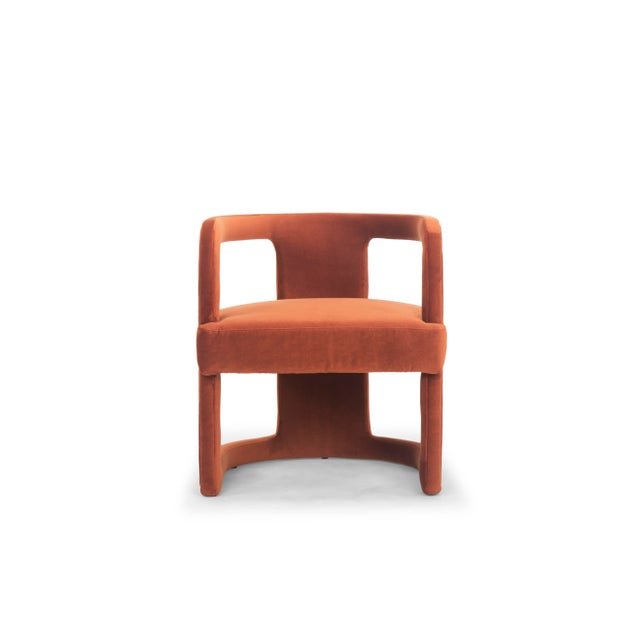 Rory Side Chair in Rust For Sale In Philadelphia - Image 6 of 6