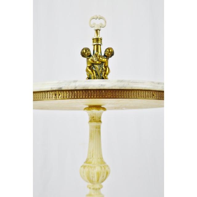 J.B. Van Sciver Company Hollywood Regency j.b. Van Sciver Co. Marble Top Table For Sale - Image 4 of 13