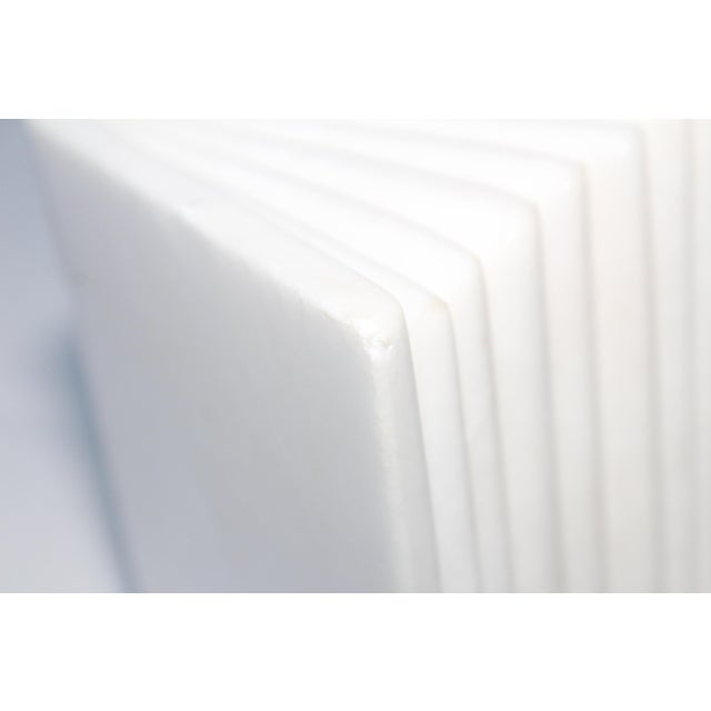 White 1950s Italian Carrara Marble Bookends For Sale - Image 8 of 10