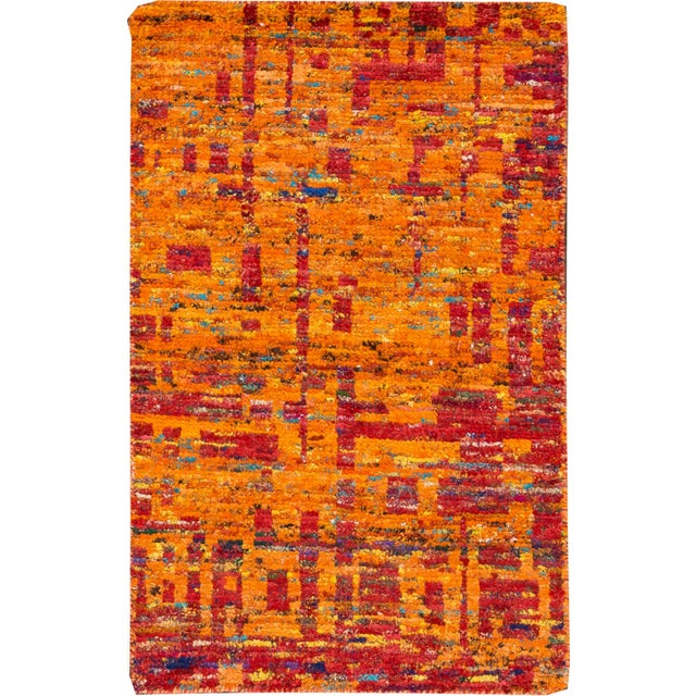 Modern Indian Rug, 2' x 3' For Sale - Image 5 of 5