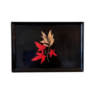 Vintage Couroc Japanese Maple Leaf Tray For Sale